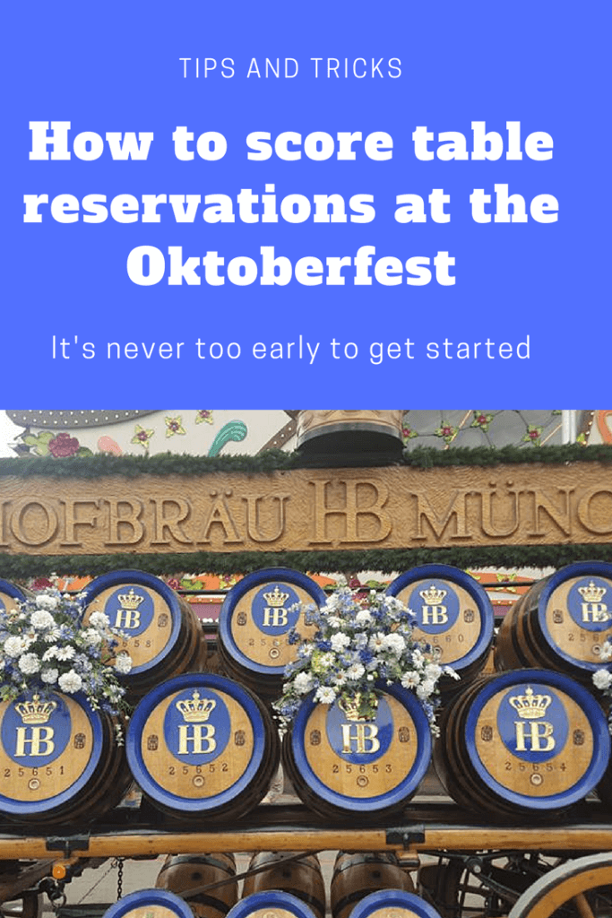 How to get TABLE RESERVATIONS at the 2018 Oktoberfest